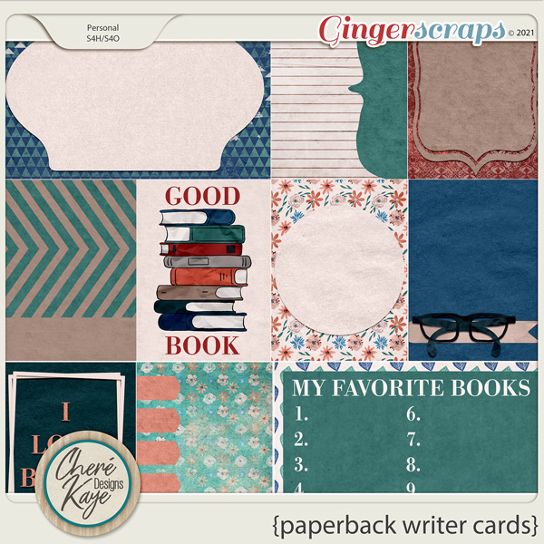 Paperback Writer Cards by Chere Kaye Designs