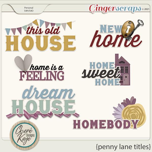 Penny Lane Titles by Chere Kaye Designs