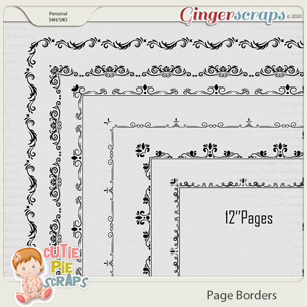 Page Borders 16 By Cutie Pie Scraps