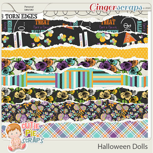 Halloween Dolls-Torn Edges