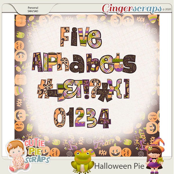 Halloween Pie-Alphabets