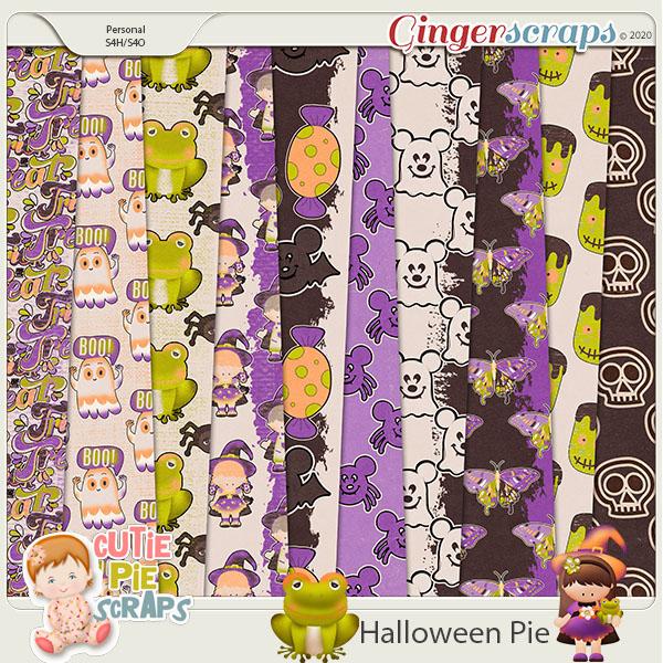 Halloween Pie-Extra Papers