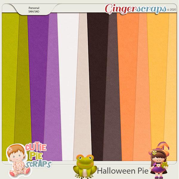 Halloween Pie-Solid Papers