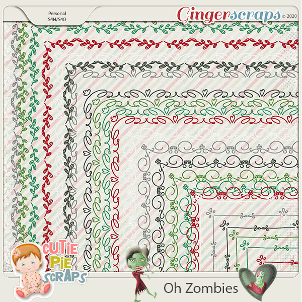 OH Zombies-Page Borders