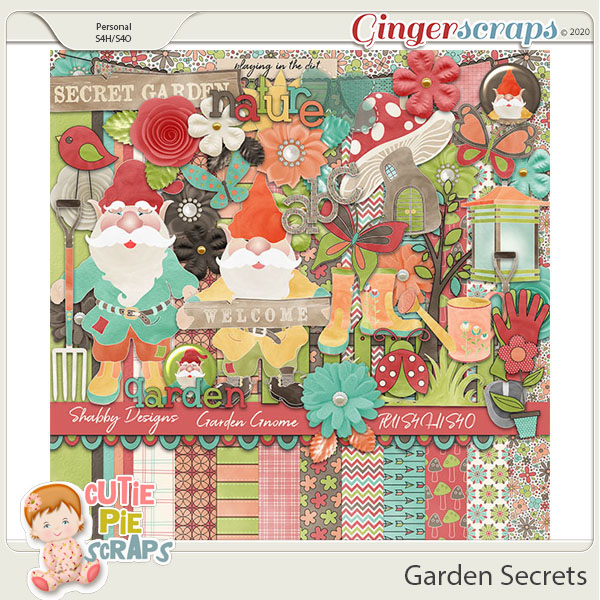 Garden Secrets Digital Scrapbook KIt