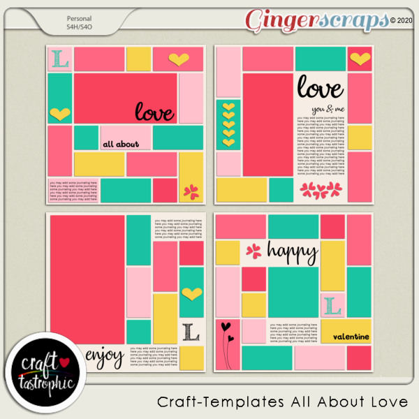 Craft-Templates All About Love