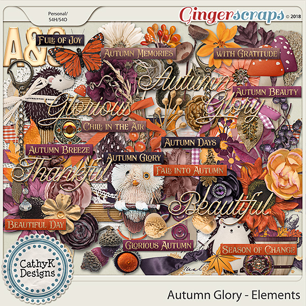 Autumn Glory - Elements by CathyK Designs