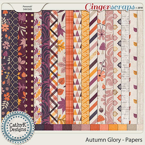 Autumn Glory - Papers by CathyK Designs