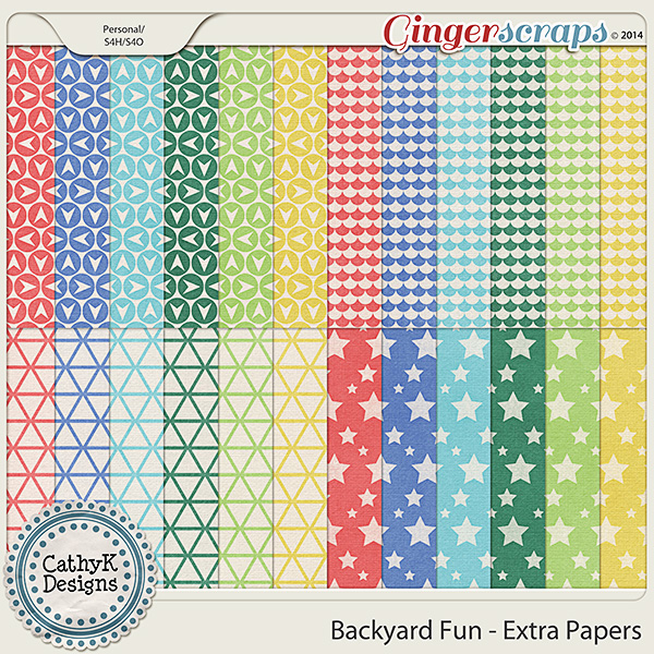 Backyard Fun - Extra Papers