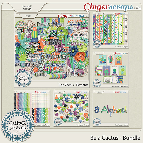 Be a Cactus - Bundle by CathyK Designs