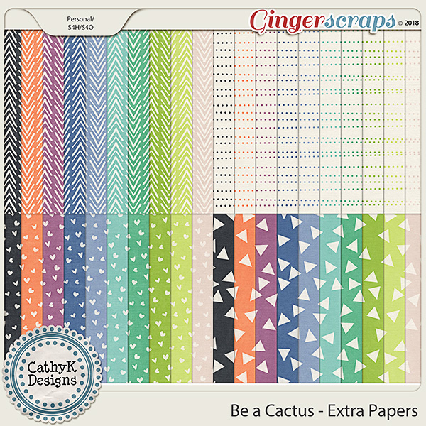Be a Cactus - Extra Papers by CathyK Designs