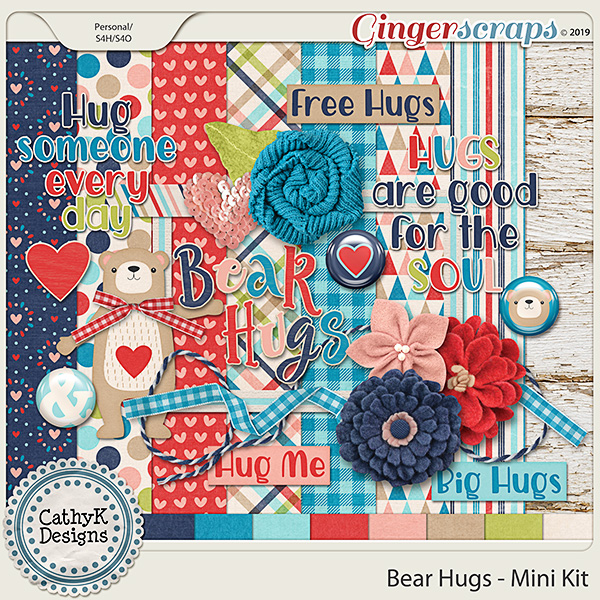 Bear Hugs - Mini Kit by CathyK Designs