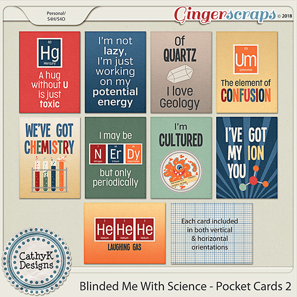 Blinded Me With Science -Pocket Cards 2 by CathyK Designs