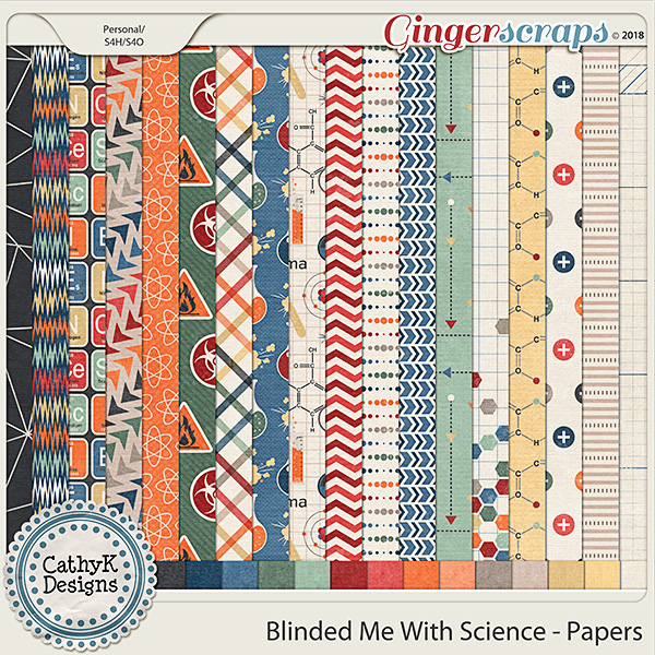 Blinded Me With Science - Papers by CathyK Designs