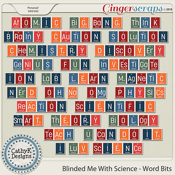 Blinded Me With Science - Word Bits by CathyK Designs