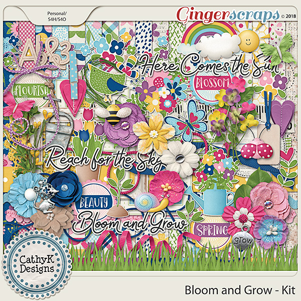 Bloom and Grow - Kit by CathyK Designs