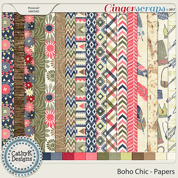 Boho Chic - Papers