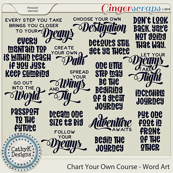 Chart Your Own Course - Word Art by CathyK Designs