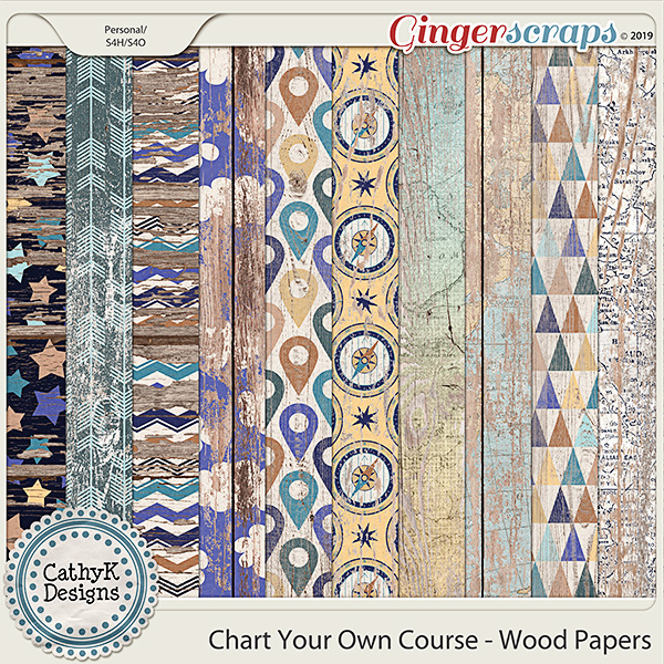 Chart Your Own Course - Wood Papers by CathyK Designs