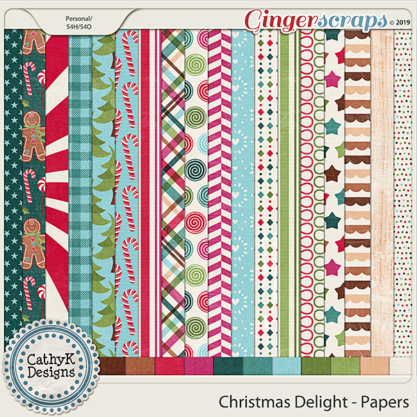 Christmas Delight - Papers by CathyK Designs