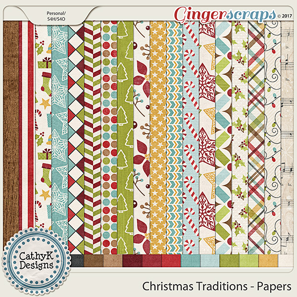 Christmas Traditions - Papers