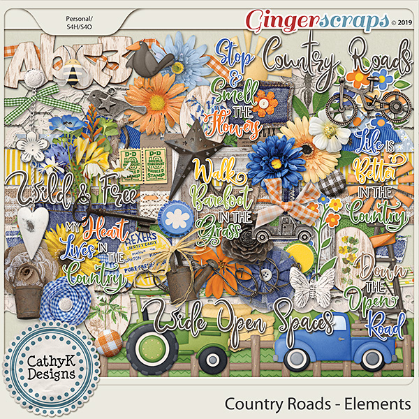 Country Roads - Elements by CathyK Designs