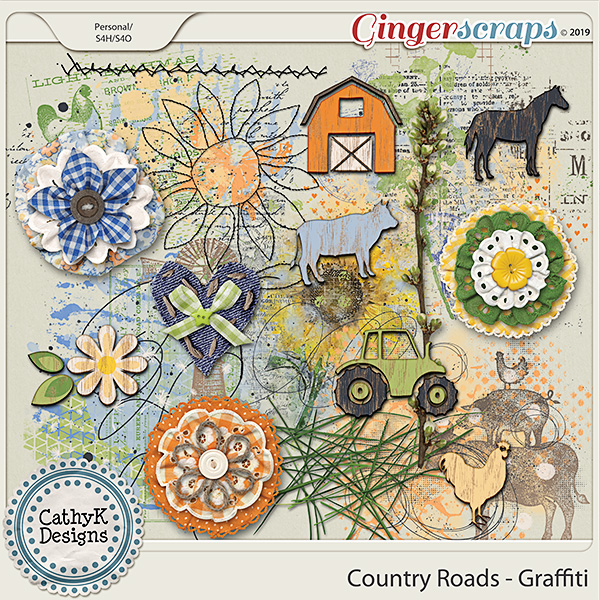 Country Roads - Graffiti by CathyK Designs