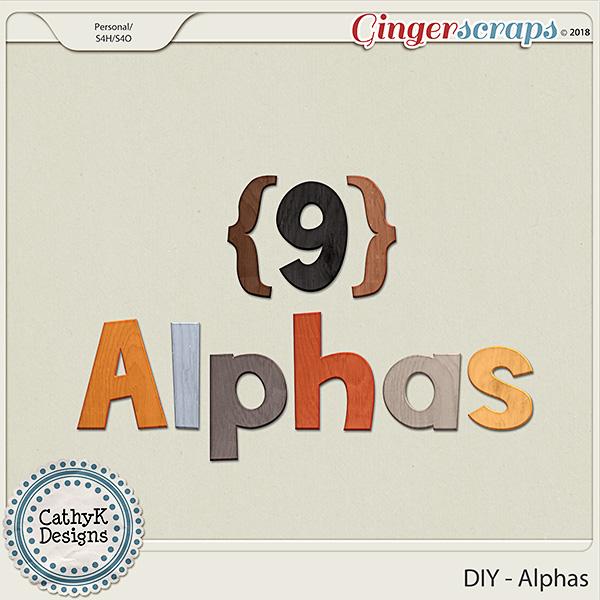 DIY - Alphas by CathyK Designs