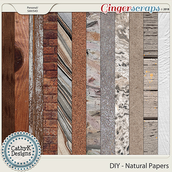 DIY - Natural Papers by CathyK Designs