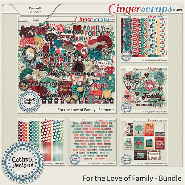 For the Love of Family - Bundle by CathyK Designs