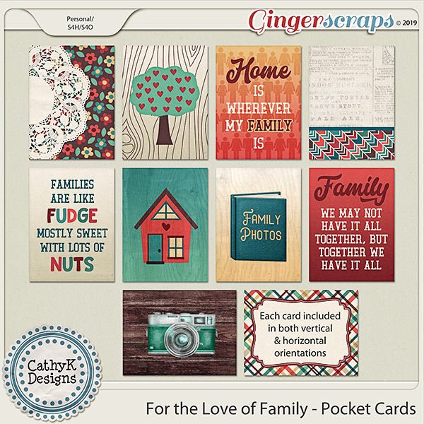 For the Love of Family - Pocket Cards by CathyK Designs