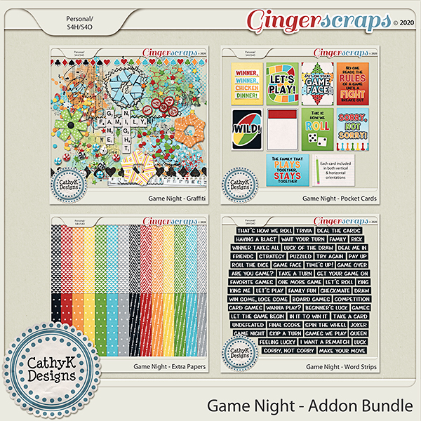 Game Night - Addon Bundle by CathyK Designs
