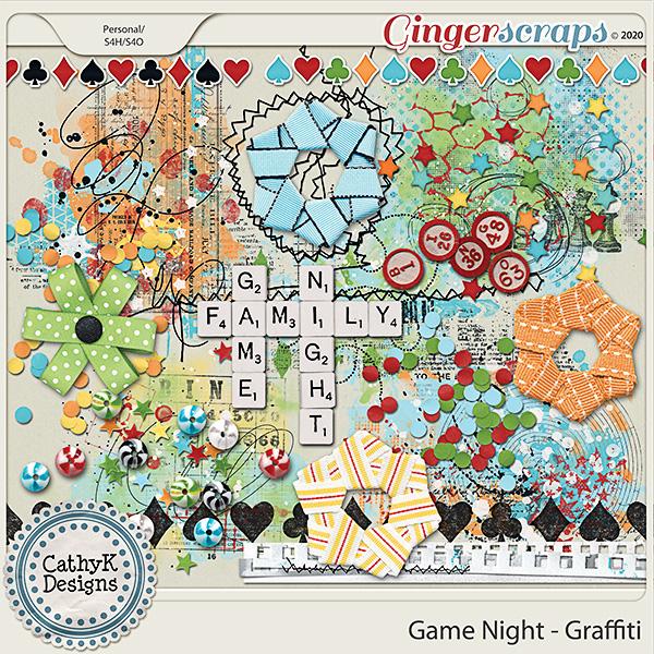 Game Night - Graffiti by CathyK Designs