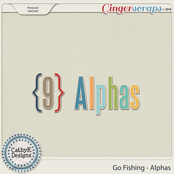 Go Fishing - Alphas by CathyK Designs