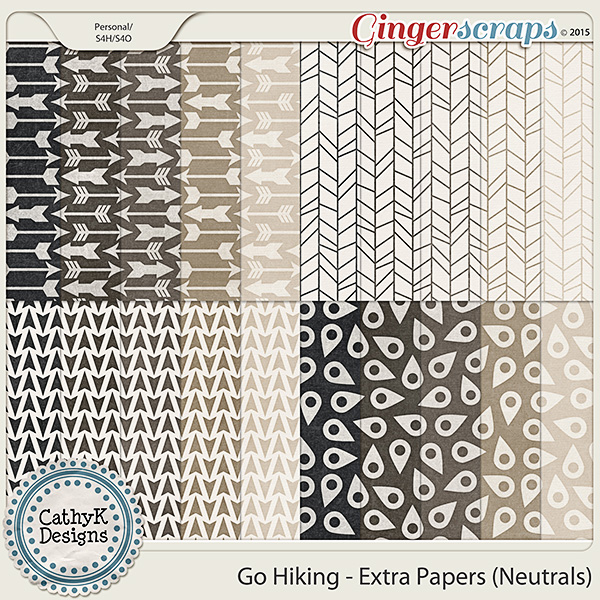 Go Hiking - Extra Papers Neutrals