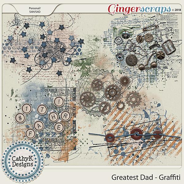 Greatest Dad - Graffiti by CathyK Designs