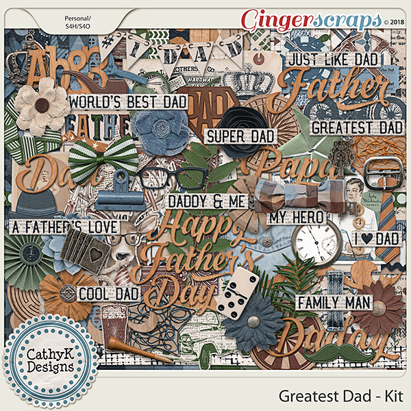 Greatest Dad - Kit by CathyK Designs