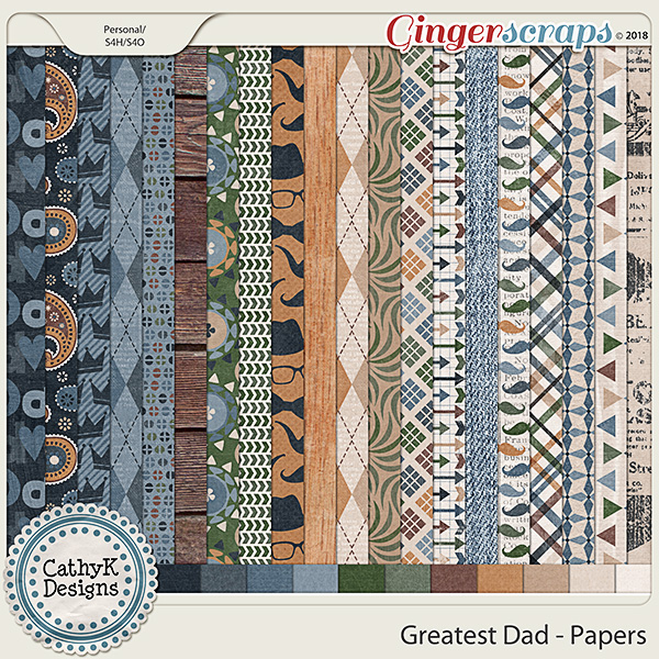 Greatest Dad - Papers by CathyK Designs