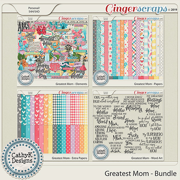 Greatest Mom - Bundle by CathyK Designs