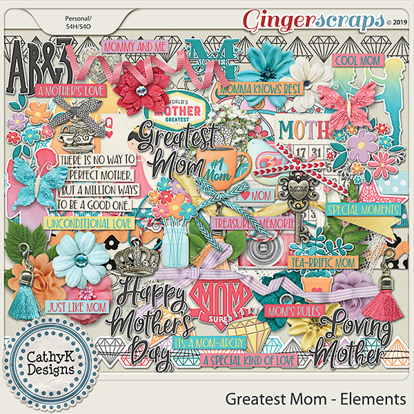Greatest Mom - Elements by CathyK Designs