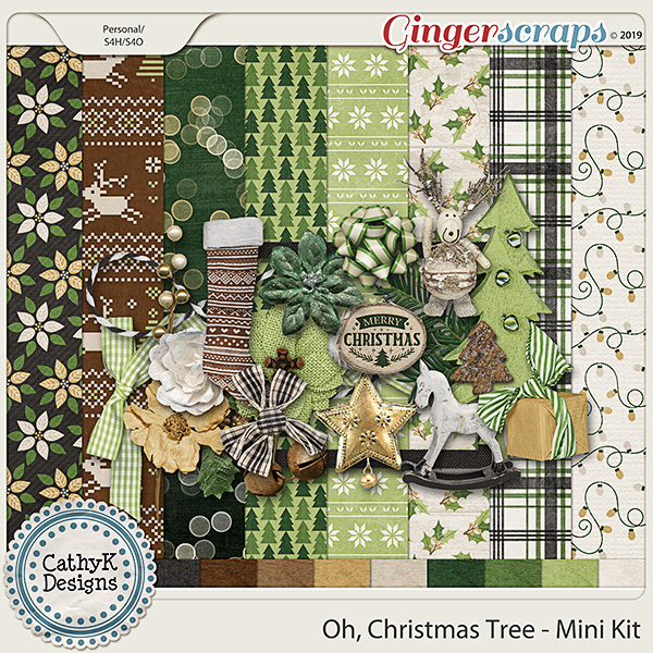 Oh Christmas Tree - Mini Kit by CathyK Designs