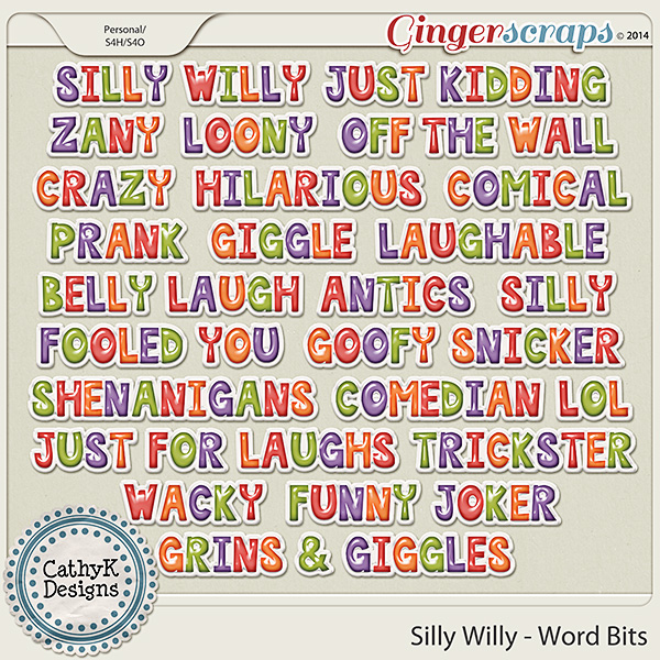 Silly Willy - Word Bits