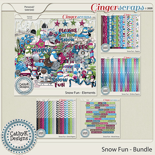 Snow Fun - Bundle by CathyK Designs