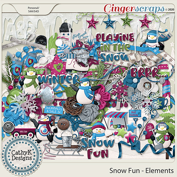 Snow Fun - Elements  by CathyK Designs