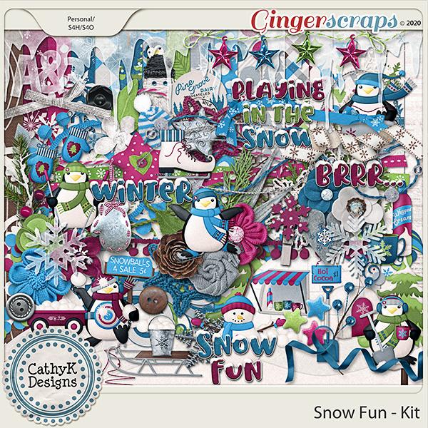 Snow Fun - Kit by CathyK Designs