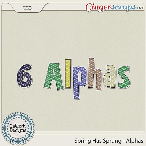 Spring Has Sprung - Alphas