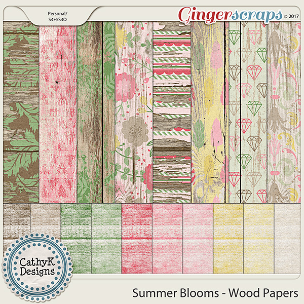 Summer Blooms - Wood Papers