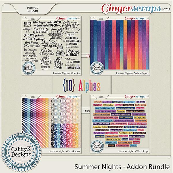 Summer Nights - Addon Bundle by CathyK Designs