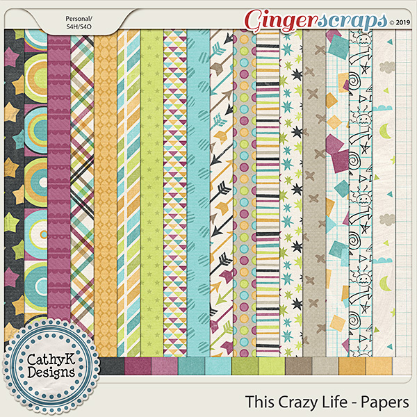 This Crazy Life - Papers by CathyK Designs