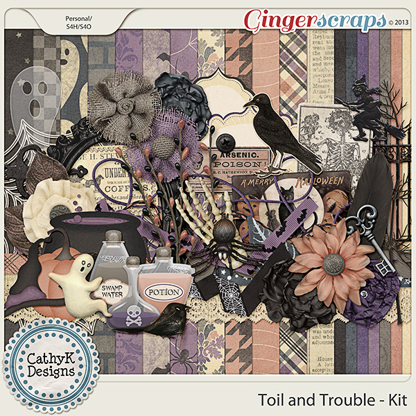 Toil and Trouble Kit: by CathyK Designs